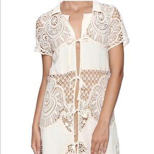 For love & lemons gracey crochet mini dress